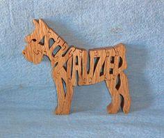 Miniature Schnauzer Dog Wooden Puzzle by huebysscrollsawart