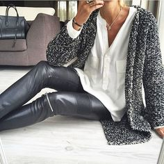 @banso73 #lotd #lookbook #dailylook #dailystyle #knitwear #accessories #leatherpants #ootd #outfit #outfitpost #outfitoftheday #cardigan #todaysoutfit #fblogger #fashion #fashionblog #fashiongram #fashionblogger #fashionista #streetfashion #streetstyle #streetwear #stylish #style #styleaddict #stylegram