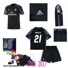 Promo Maillot Du Real Madrid Noir Enfant (MORATA 21) Third 2016/2017 Thailande