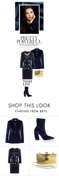 """#PolyPresents: Wish List"" by theawkwardpic ❤ liked on Polyvore featuring Altuzarra, Prada, Pierre Balmain, Valentino, Erickson Beamon, contestentry and polyPresents"