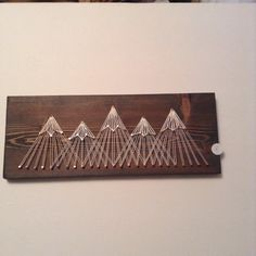 Mountain String Art Five Peaks by agnesinaugustshop on Etsy