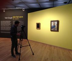 Working on a video for 'Van Gogh at work' at Van Gogh Museum with ClipForce