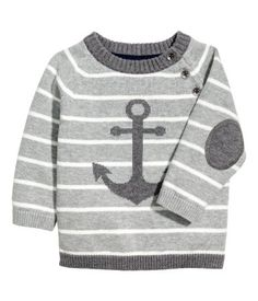 Knit Cotton Sweater | Gray/striped | Kids | H&M US