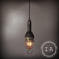 Vintage Industrial McGill Explosion Proof Hanging Pendant Lamp Ceiling Lighting Fixture