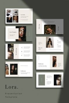 LORA - Modern and Simple Keynote Template,You can find Layout design and more on our website.LORA - Modern and Simple Keynote Template, Portfolio Design Layouts, Fashion Portfolio Layout, Simple Powerpoint Templates, Keynote Template, Brochure Template, Creative Powerpoint, Planner Template, Layout Template, Flyer Template