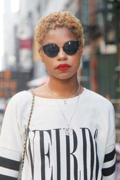 If I ever BIG CHOP again this is the look I'm going for