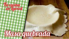 Masa Quebrado o Pasta Brise de uso para tartas y Pie de Manzana. Una manera fácil y rápida de hacer esta masa.
