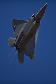 A U.S. Air Force F-22 Raptor from 94th Fighter Squadron Langley Air Force Base, Va., takes off to perform an aerial demonstration for an estimated 180,000 spectators at the Australian International Airshow, March 1, 2013, at Avalon Airport in Geelong, Australia. (Department of Defense photo by U.S. Air Force Tech. Sgt. Michael R. Holzworth/Released)