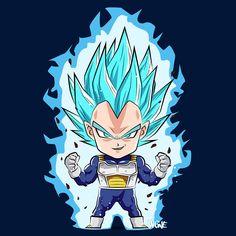 Shop Goku & Vegeta dragon ball z t-shirts designed by imprez as well as other dragon ball z merchandise at TeePublic. Saga Dragon Ball, Dragon Ball Z Shirt, Anime Chibi, Manga Anime, Anime Art, Vegeta Ssj Blue, Dbz Vegeta, Figurine Dragon, Chibi Characters