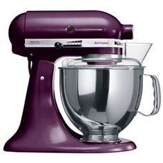 The KitchenAid Artisan Stand Food Mixer - the ultimate cooking tool! Superior craftsmanship, timeless style and incredible versatility have made the KitchenAid Artisan mixer a feature in chefs' and cooks' homes alike, generation after generation. Kitchenaid Artisan Stand Mixer, Purple Kitchen Designs, Purple Kitchen Accessories, Kitchen Designs Photos, Mixer Accessories, Baking Accessories, Kitchen Aid Artisan, Kitchen Aid Mixer, Blenders