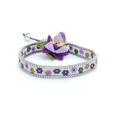 Items similar to Wrap bracelet - Beadwoven bracelet - Delica beads bracelet - Beaded bracelet - Needle lace bracelet BR1130 on Etsy