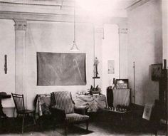 Man Ray Studio on 8th Street New York City c. 1920