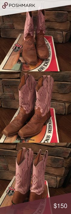 Justin boots Justin boots. Top leather-pink luscious. size 7.5 Justin Boots Shoes Heeled Boots