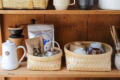 Design Movements, Dorm Life, Cozy House, Kitchen Interior, Home Organization, Coffee Shop, Kitchen Dining, Sweet Home, Basket