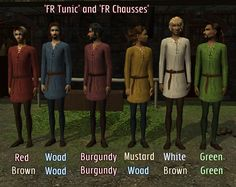 """The Medieval Smithy SIMS 2: Male Tunic """"Anniversary"""" Remixes"""