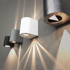 Canto vegglampe, 2x3W LED, valgfrie lysåpninger
