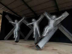 Spikey Crucifixion Sculptures - The Precious Light Exhibit Explores Themes in the King James Bible (GALLERY)