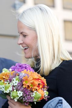 Crown Princess Mette-Marit of Norway visits the opening of the National Centre of Competence on September 15, 2014 in Drammen, Norway.