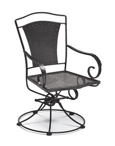 Wrought-Iron Rocking Chair w Coil-Spring Base and Swivel Motion - Reston $350
