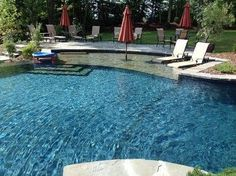 sun ledge pool pics | Sun Shelf Pool Design Ideas, Pictures, Remodel, and