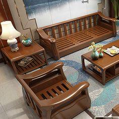 Wooden Sofa Designs, Wooden Sofa Set Designs, Furniture Design Living Room, Luxury Furniture Living Room, Furniture Design Wooden, Sofa Design Wood, Wooden Sofa Set, Sofa Set, Wood Bed Design
