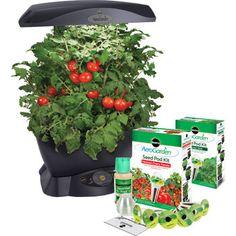 AeroGarden – Jardin intérieur 6 à DEL avec semences pour fines herbes et semences pour tomates cerises en prime