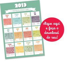 Calendário 2013 do Tanlup \o/