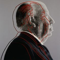 Alfred Hitchcock  par Andy Wharol