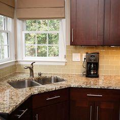 Subway Tile Backsplash | Light Beige Glass Subway Tile in Almond | Modwalls Lush 3x6 Tile