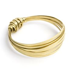 Brass Ribbon Bangle £15