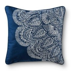 Mudhut� Dhurrie Henna Decorative Pillow - Blue