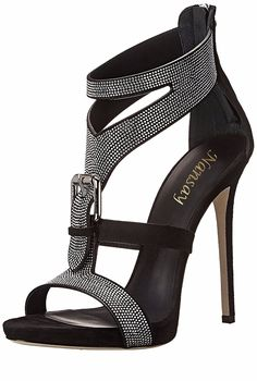 Giuseppe Zanotti Silver Pave Buckle Italian Leather Dress Sandal via Sandra Angelozzi Stilettos, Pumps, Pretty Shoes, Beautiful Shoes, Zapatos Shoes, Shoes Heels, Mode Glamour, Giuseppe Zanotti Heels, Zanotti Shoes