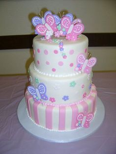 Butterfly and Flowers Theme: butterfly baby showers   butterfly baby shower cake