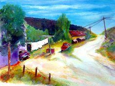 Las Trampas, New Mexico - Watercolor