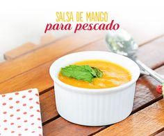 Acompaña tus filetes de #pescado con una deliciosa #salsa de #mango. En una sartén echa un chorrito de aceite, 7 ajos picados, ½ #cebolla en cuadritos, 1 #mango grande en rebanadas, 1 chorrito de #Vainilla Molina y 120 ml de #leche. Licúa todo y ¡listo!