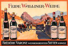Feine Walliser-Weine - Frederic Shop original vintage #posters online…