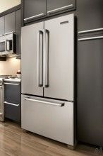KitchenAid Pro Line Series KFCP22EXMP 21.8 cu. ft. Counter-Depth French Door Refrigerator with SpillClean Glass Shelves, Humidity-Controlled Crispers, Internal Water Dispenser, Ice Maker and Pull-Out Tri-Level Freezer Drawer - The Appliance Outlet Store