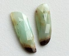 Chrysoprase Flat Back Cabochons 2 Pc Matched Pair by gemsforjewels