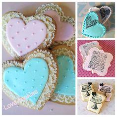 Sooo gorgeous!!! Vintage pink valentines cookies with lace!