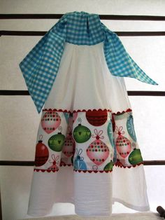 christmas ornaments tie on double flour sack dishkitchenhand towel christmas gift idea - Kitchen Hand Towels