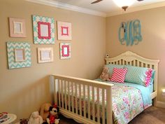 Delta girl frames in big girl room!