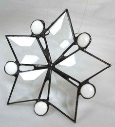 Stained glass star suncatcher decorative by DesignsStainedGlass