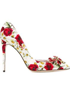 DOLCE  amp  GABBANA Embellished Floral Pumps.  dolcegabbana  shoes  pumps  Stiletto Pumps d8d25994520d