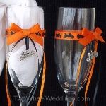 H-D Champagne Toasting Flutes