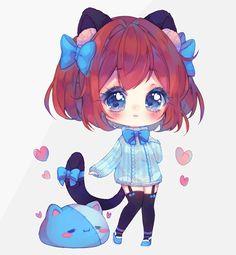 C Kawaii Neko Girl, Kawaii Art, Cute Anime Chibi, Kawaii Anime, Anime Girl Drawings, Anime Characters, Character Art, Alice, Deviantart