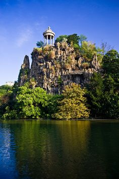 View of the Temple of Sibyl.  Photograph by David Briard.  This photo was taken on August 6, 2008 in Buttes Chaumont, Paris, Ile-de-France, FR.