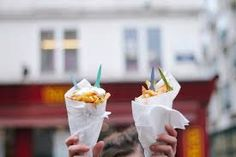 cornet of burger and fries - Buscar con Google