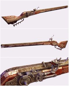 Arquebus (PL arkebuz) is an early muzzle-loaded firearm used in the 15th to 17th centuries. An arquebus was originally a gonne with hook, and later a matchlock firearm. Like its successor the musket, it is a smoothbore firearm, but was initially lighter and easier to carry.