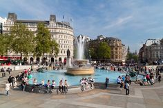 Lions and fountains and museums (oh my!) are all at Trafalgar Square http://www.nyhabitat.com/blog/2015/06/15/london-summer-guide-2015/