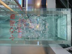 glass layered map